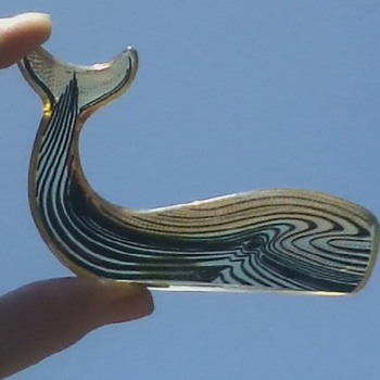 Palatnik Lucite Whale, what a Tale!! - Animals