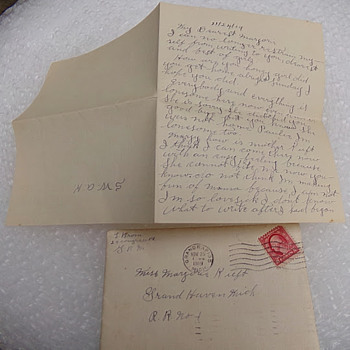 Love Letter 2 of 5 from 1919 - Paper