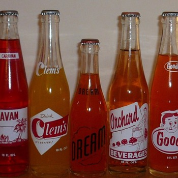 Orange Soda Bottles collection Jim Linderman - Bottles