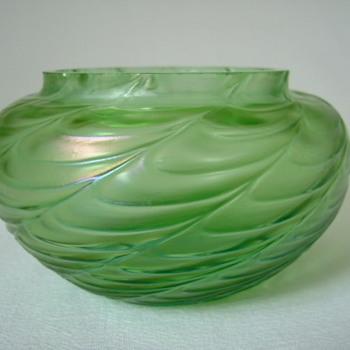 Art Nouveau Kralik Draped Bowl - Art Glass