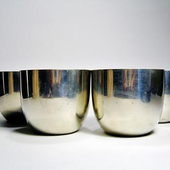 VINTAGE JEFFERSON CUPS  - Silver