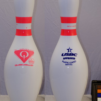 QubicaAMF Pink Glow Band Bowling Pin - Sporting Goods