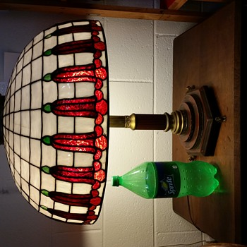 Antique Glass Lamp - Lamps