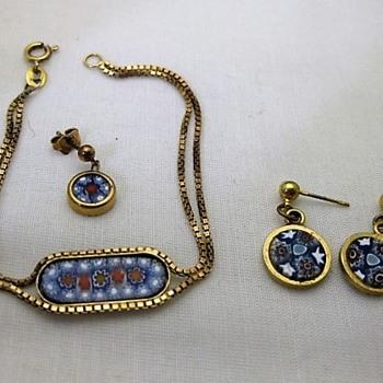 Italian millefiori bracelet and earrings - Fine Jewelry