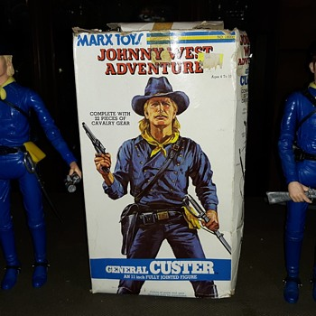 "Mars Johny West Adventures General Custer 12"" Figure 1975  - Toys"