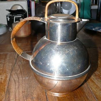 silver plated coffe pot - Art Deco