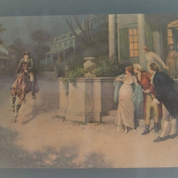 Early Print Is this Paul revere????  Who was the Artist??? - Posters and Prints