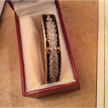 My  gorgeous Black enamel and diamond bracelet