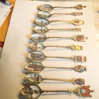 Any worth to these painted demitasse spoons from various european countries? - Silver
