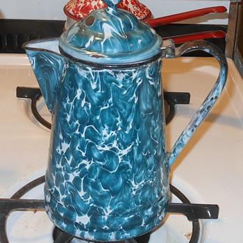 Graniteware Green/Crysolite Coffee Pot