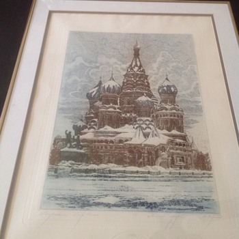 RED SQUARE ETCHING TINTED 1988