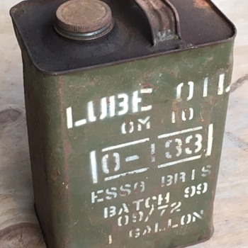 Esso 1 Gallon Oil Can Australian Army Issue - Petroliana