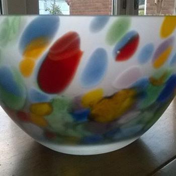 Multi Coloured Glass Bowl, Gorgeous :) - Art Glass