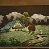 House and Mountain Scene
