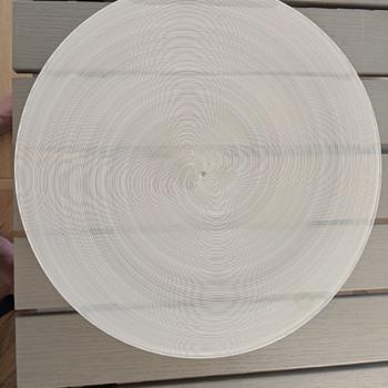 swirl plate - Art Glass