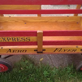 Aero Flyer Express all original wooden wagon 1950