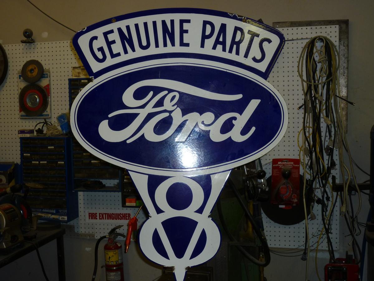Vintage Ford V8 Sign | Collectors Weekly