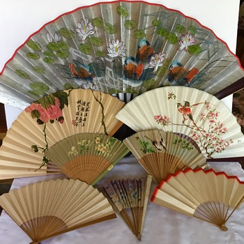 Old Asian fan collection