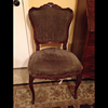 French side chair before and after