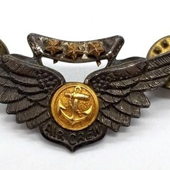 US WWII-Vietnam Era, Navy Combat Aircrew Wings Amico, Sterling - Military and Wartime