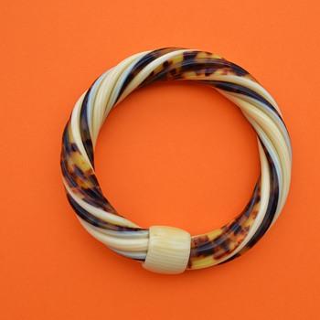 Lea Stein 1970's Twist Bangle - Art Deco
