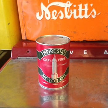 Empire State One Quart Oil Can