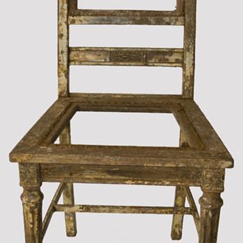 Antique Metal Kitchen Chair