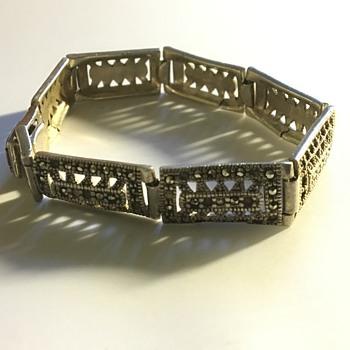 Vintage silver bracelet  - Art Deco