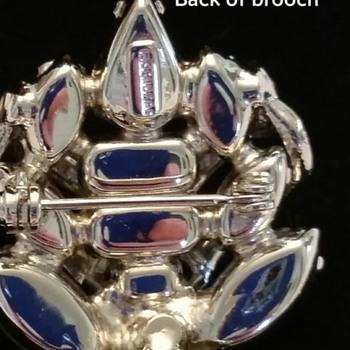 Back of Eisenberg Brooch - Costume Jewelry