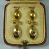 Three Sets of Regency to Mid Victorian Gold and Gemset Earrings