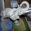 Grey ceramic elephant
