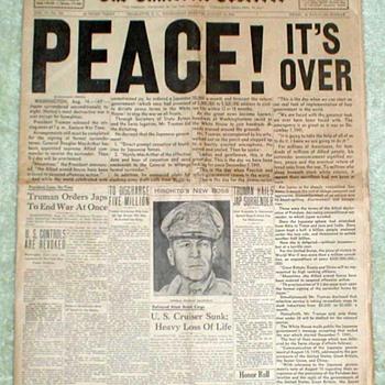 1945 - Charlotte Observer Newspaper - Paper