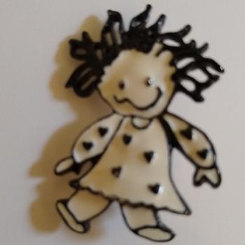 Doll brooch - Costume Jewelry