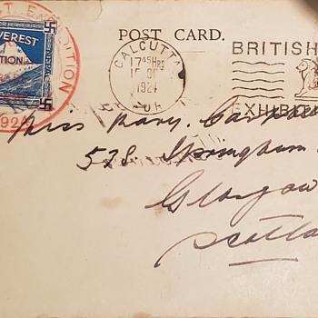 Mount Everest 1924 - Postcards