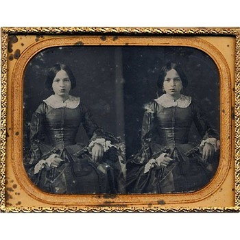 Stereo Daguerreotype of a Girl, mid-1850s - Photographs