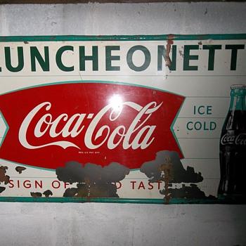Vintage Coca-Cola Sign - Coca-Cola