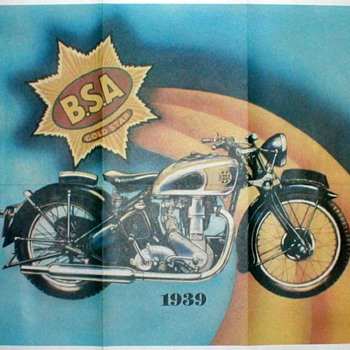 DomiRacer Motorcycle Advertising Poster - 1939 B.S.A. - Posters and Prints