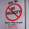 No mega city paper poster.