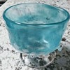 PRETTY SKY BLUE ART GLASS