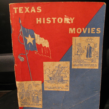 Texas History Movies Booklet - Advertising