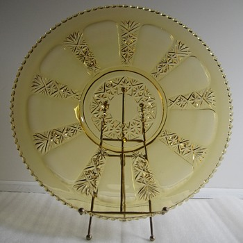 Large Plate with beaded Edge