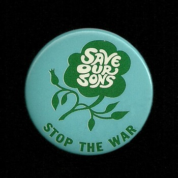 Save our Sons Vietnam era pinback button