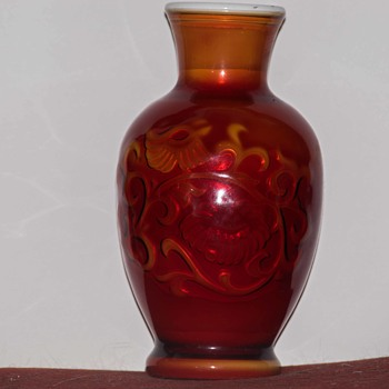 What is this cased red glass vase? - Glassware