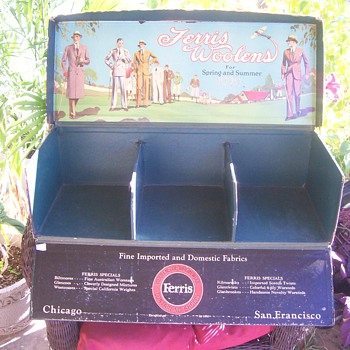 1929 Ferris Woolen Sample Case