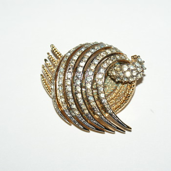 Marcel Boucher Rhinestone Brooch - Costume Jewelry