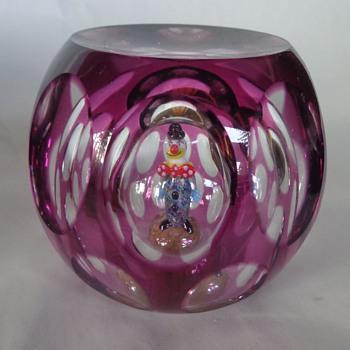 Perthshire 1998 Paperweight Jo Jo The Clown - Art Glass