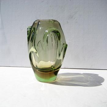 Small Skrdlovice vase - Art Glass