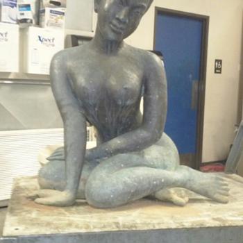 life size bronze oriental nude  - Fine Art