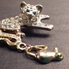 Kitten and mouse pin