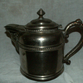 1920's Rome Metal Ware Kettle ~ Silver-Over-Copper - Kitchen